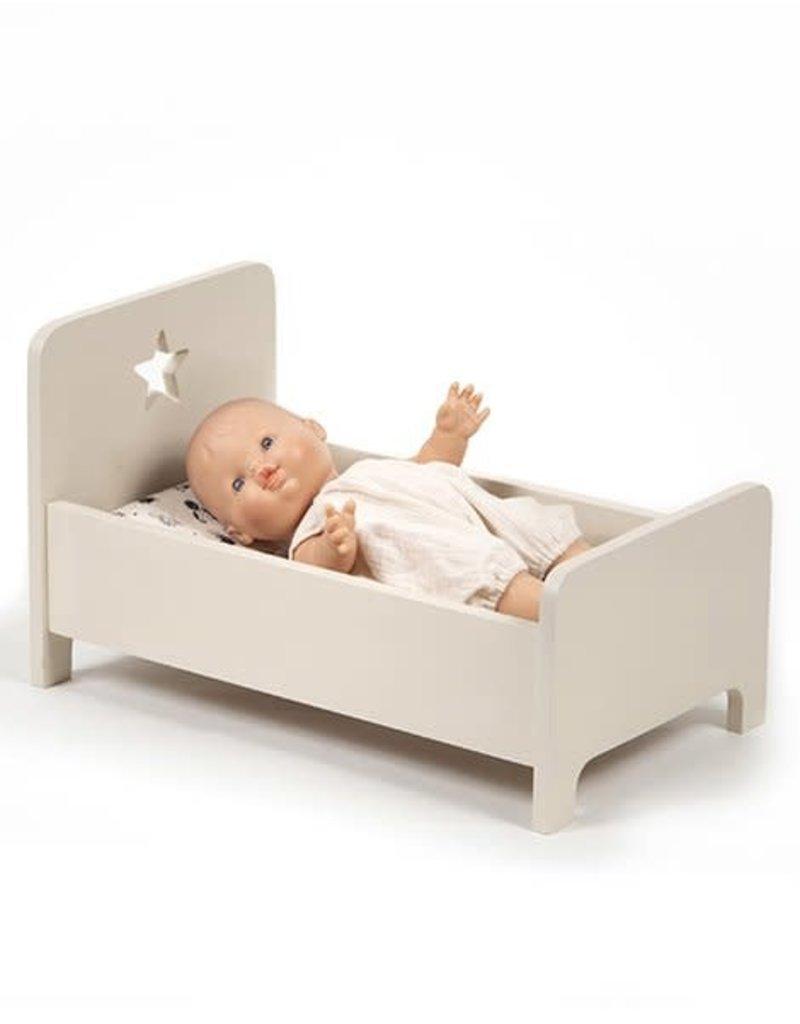Minikane Minikane Doll bed wood taupe