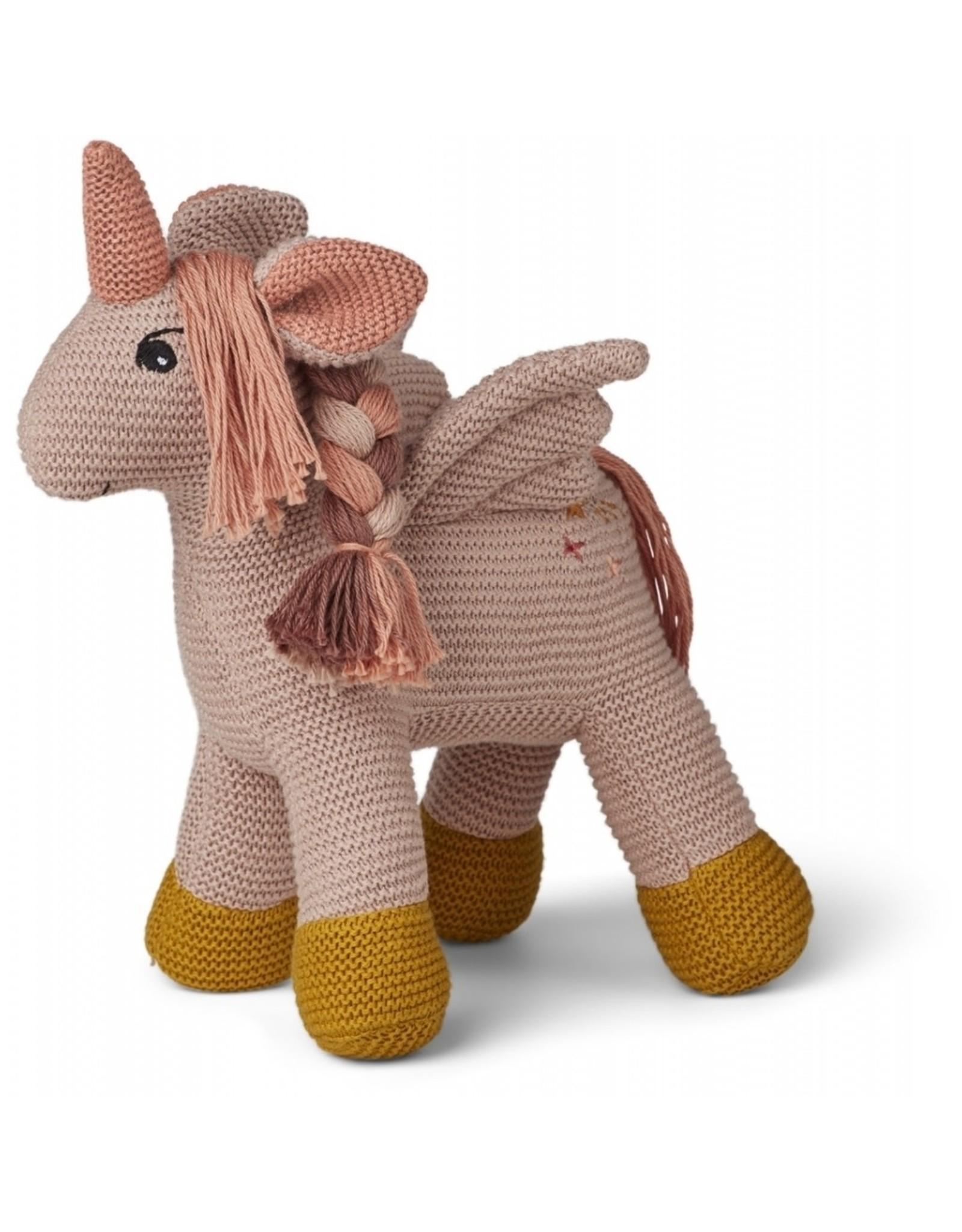 Liewood Liewood Adiana knitted teddy unicorn sorbet rose