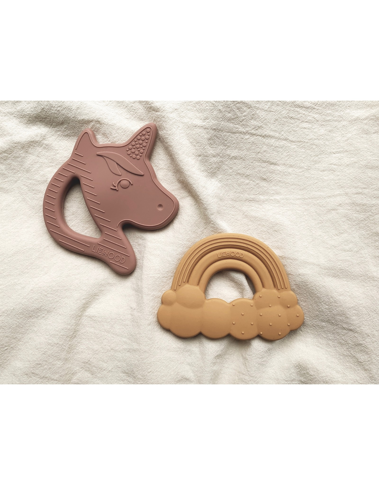 Liewood Liewood Roxie silicone teether 2-pack rose mix