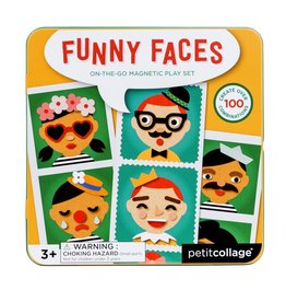 Petit Collage Petit Collage magnetic play set funny faces