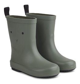 Liewood Liewood Rio rain boot rabbit faune green