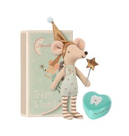 Maileg Maileg tooth fairy big brother mouse with metal heart