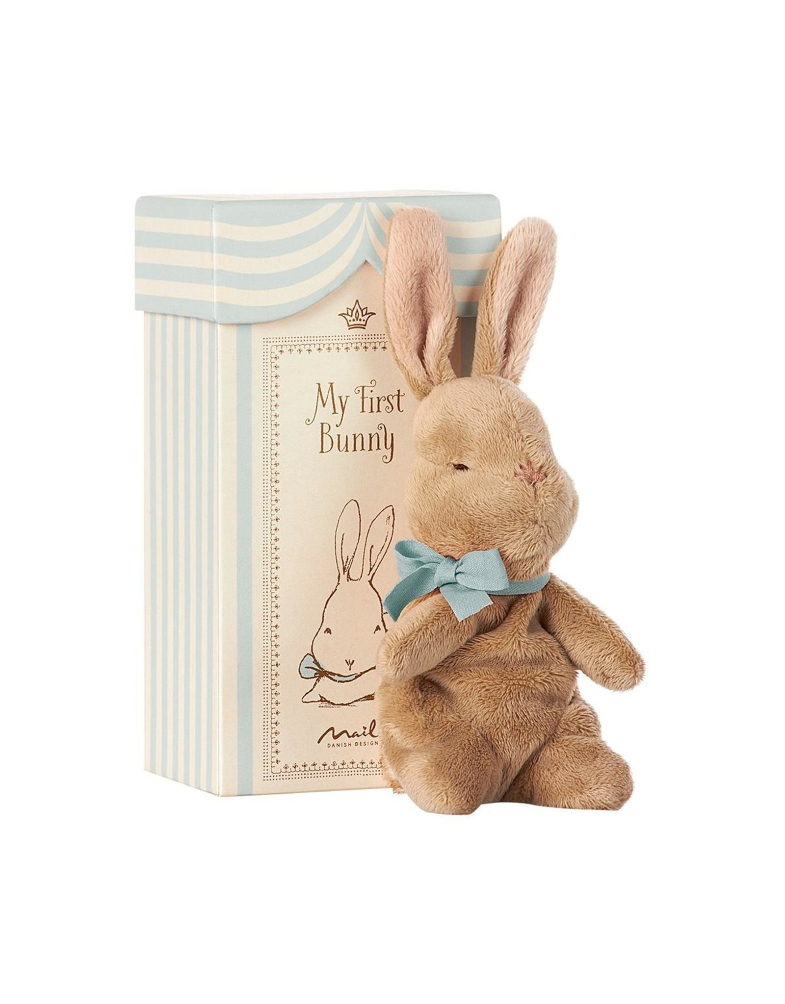 Maileg Maileg my first bunny in box blue