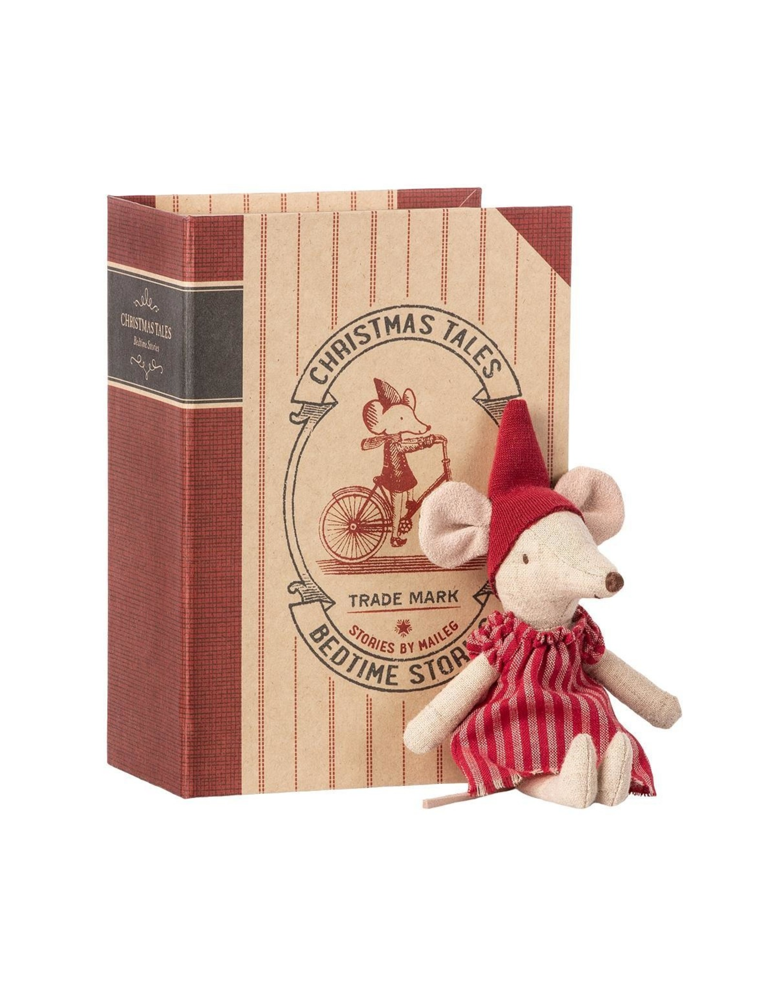 Maileg Maileg Christmas mouse in book big sister