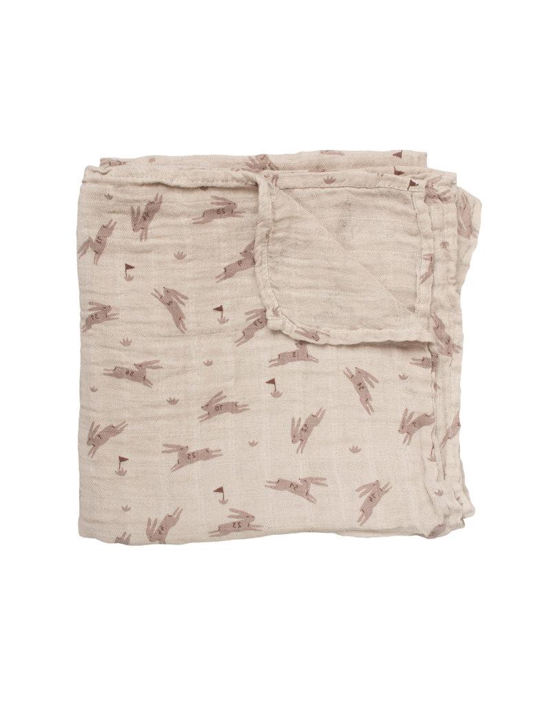 main sauvage main sauvage muslin cloth 70x70 rabbits