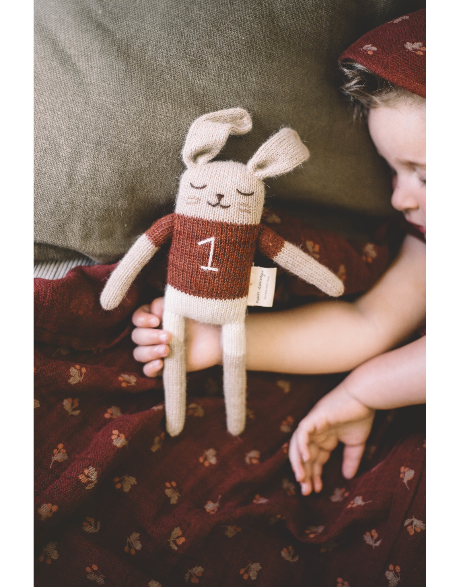 main sauvage main sauvage soft toy bunny sienna