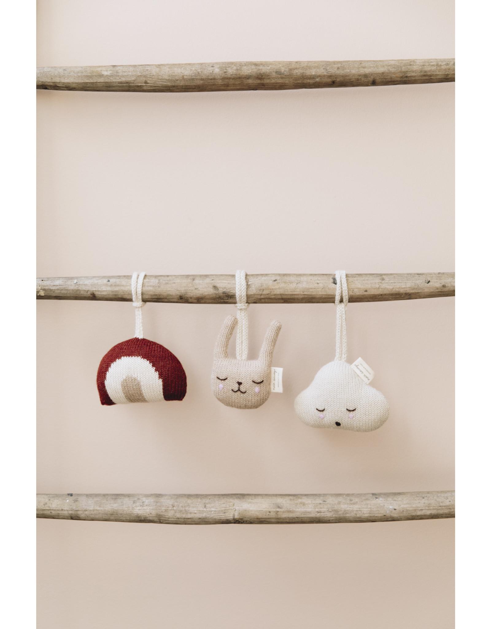 main sauvage main sauvage baby gym toy rabbit