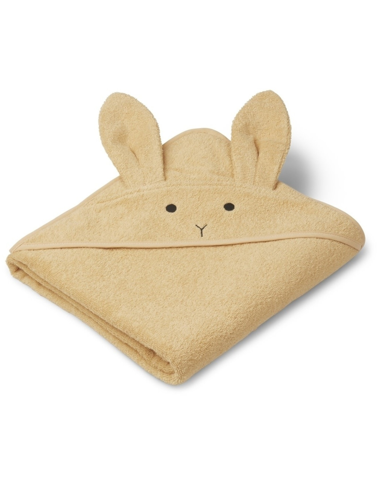 Liewood Liewood Augusta badcape 100x100 rabbit smoothie yellow