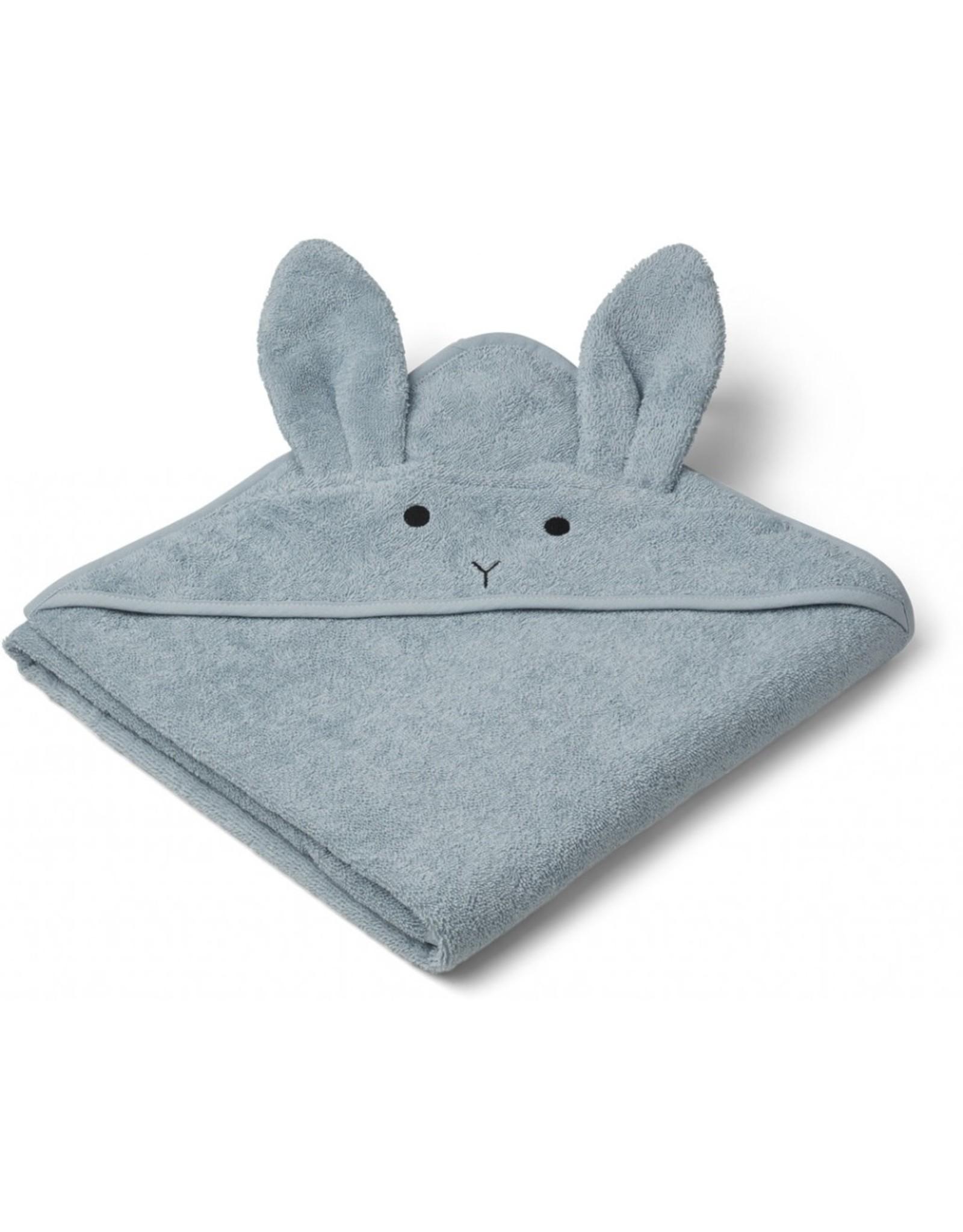 Liewood Liewood Augusta badcape 100x100 rabbit sea blue