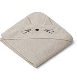 Liewood Liewood Albert badcape 70x70 cat sandy