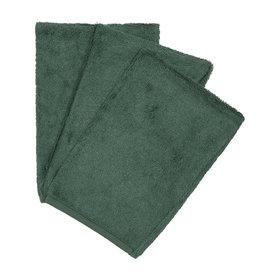 Timboo Timboo set van 3 washandjes aspen green