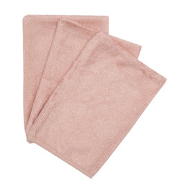 Timboo Timboo set van 3 washandjes misty rose