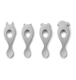 Liewood Liewood Liva silicone spoon 4-pack dumbo grey
