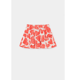 Bobo Choses Bobo Choses All Over Hearts Ruffles Skirt