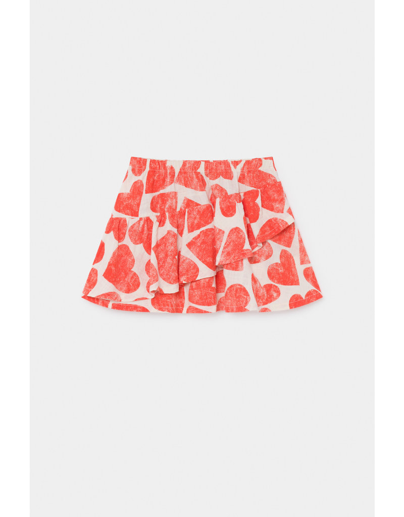 Bobo Choses Bobo Choses All Over Hearts Ruffles Skirt