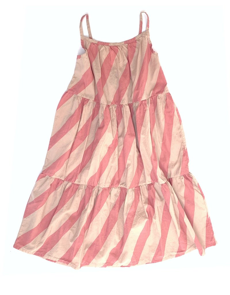 Long Live The Queen Long Live The Queen Candy Strip Dress Pink Stripe