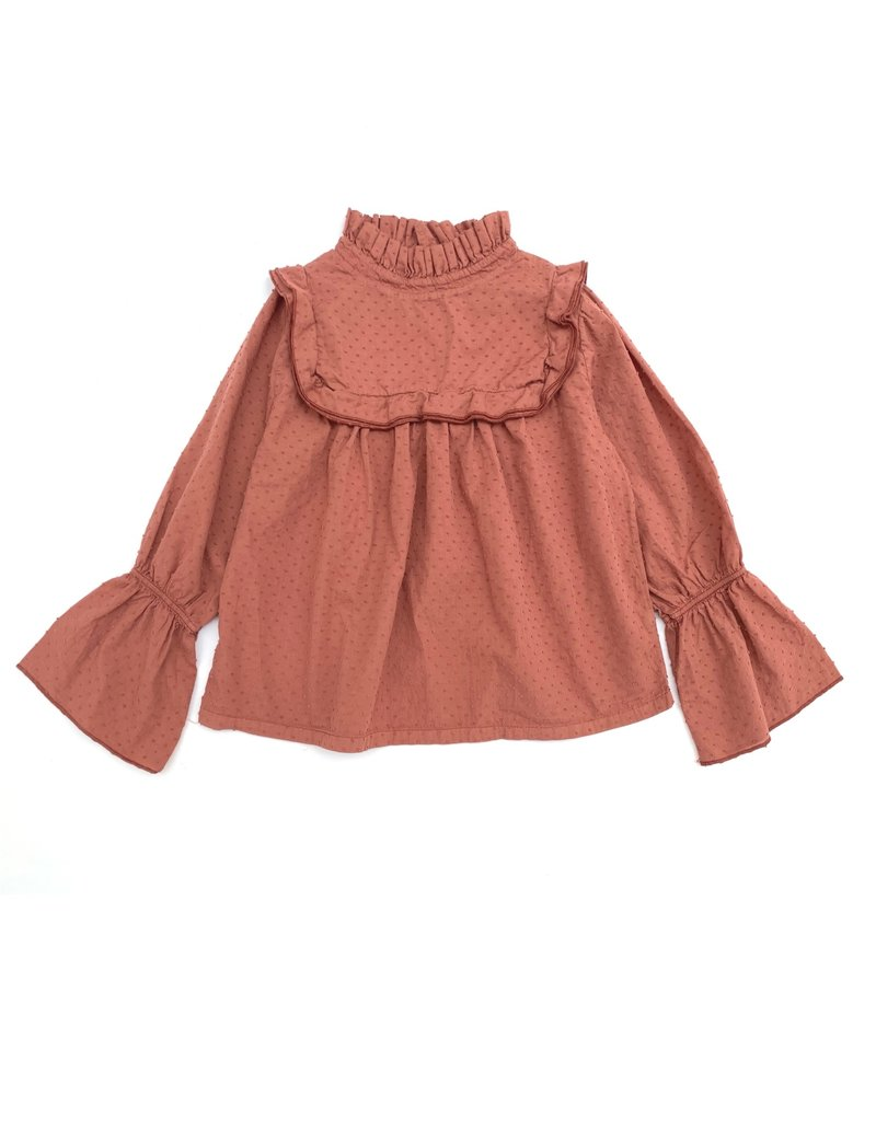 Long Live The Queen Long Live The Queen Ruffle Blouse Copper