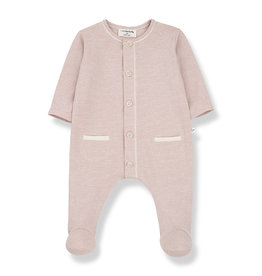 1 + in the family 1 + in the family Escala jumpsuit w/feet rose