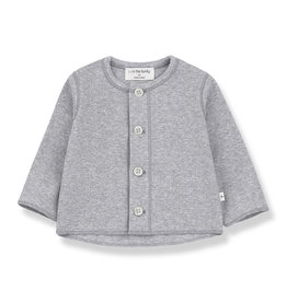 1 + in the family 1 + in the family Piero open shirt grey melange