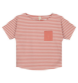 Gray Label Gray Label Pocket Tee Faded Red/Off White Stripe