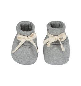 Gray Label Gray Label Baby Ribbed Booties Grey Melange