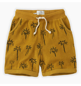Sproet & Sprout Sproet & Sprout Shorts terry Palm Tree Curcuma