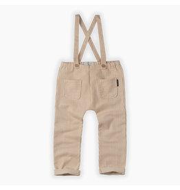 Sproet & Sprout Sproet & Sprout Pants suspenders Pinstripe Summer white