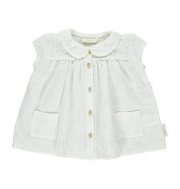 Piupiuchick Piupiuchick Baby peter pan dress off-white