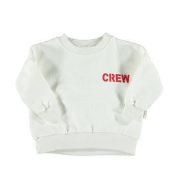 Piupiuchick Piupiuchick Unisex sweatshirt off-white w/red crew