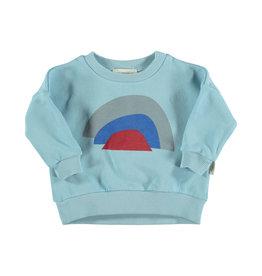 Piupiuchick Piupiuchick Unisex sweatshirt mist blue w/rainbow