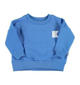 Piupiuchick Piupiuchick Unisex sweatshirt blue w/white flag & star