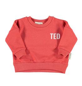 Piupiuchick Piupiuchick Unisex sweatshirt red w/white ted & bar tender