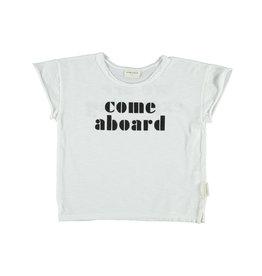 Piupiuchick Piupiuchick T-shirt off-white w/black come aboard