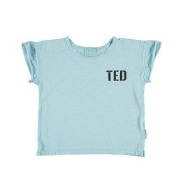 Piupiuchick Piupiuchick T-shirt mist blue w/black ted