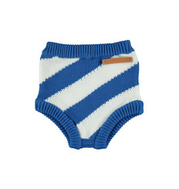 Piupiuchick Piupiuchick Knitted high waisted shorties indigo stripes