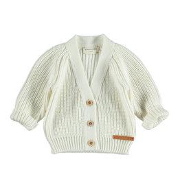 Piupiuchick Piupiuchick Knitted v-neck jacket off-white crew only