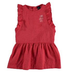Bonmot Bonmot frilles dress love clay red