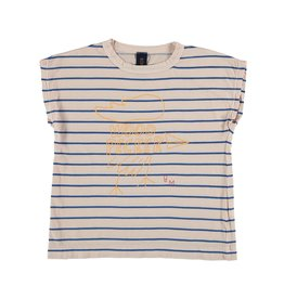 Bonmot Bonmot t-shirt summer Big woodpeker tan cream