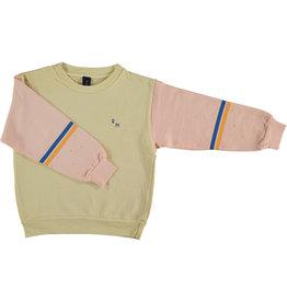 Bonmot Bonmot sweatshirt brushstroke melow yellow