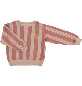 Bonmot Bonmot sweatshirt multi stripes dusty coral