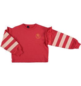 Bonmot Bonmot sweatshirt frilles paintor clay red