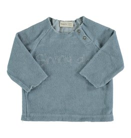 Bean's Bean's Palm terry sweatshirt sky blue