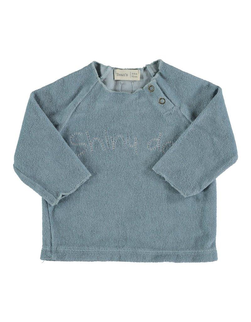 Bean's Bean's Palm terry sweatshirt sky blue
