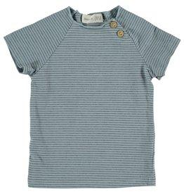 Bean's Bean's Clover striped t-shirt sky blue