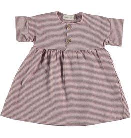 Bean's Bean's Daisy striped dress pink