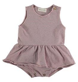 Bean's Bean's Poppy striped dress-body pink