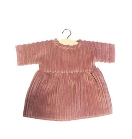 Minikane Minikane Dress Faustine velours vieux rose