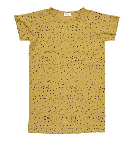 maed for mini maed for mini t-shirt dress ochre ocelot