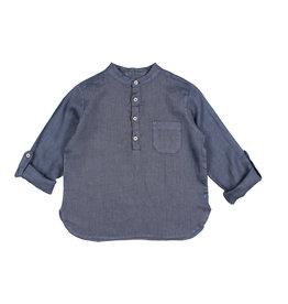 Buho Buho Paul linen shirt indigo