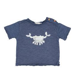 Buho Buho Cesar t-shirt crab indigo